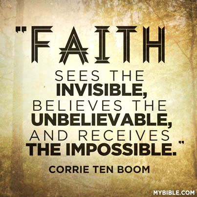 Corrie Ten Boom quote.....one of my new fave quotes.