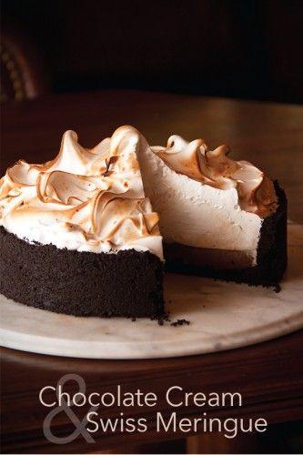 Chocolate Cream Pie with Swiss Meringue @Greg Henry   Sippity Sup