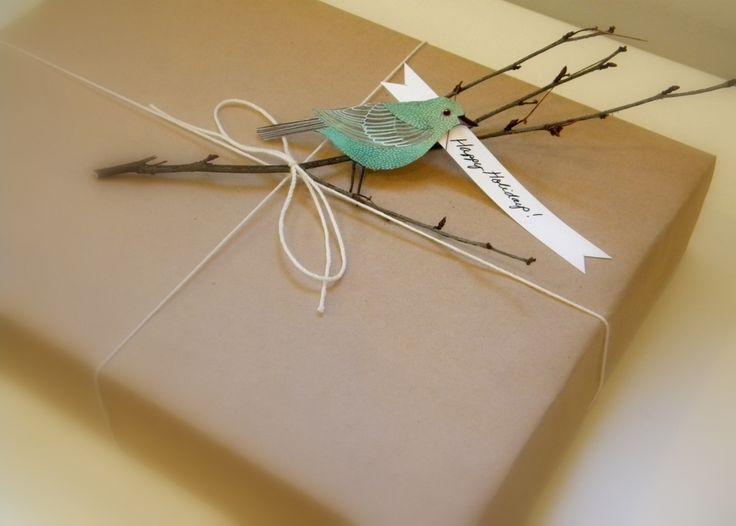 Nice gift wrap idea.