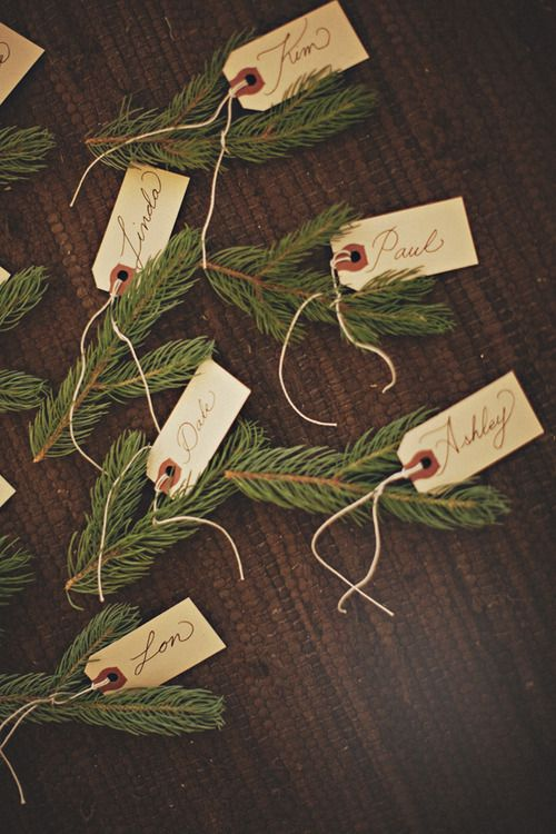 winter placecards