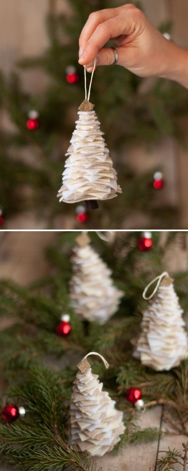 DIY Christmas Ornaments • Lots of Ideas & tutorials! Including, from 'this heart is mine', these awesome diy felt christmas tree ornaments.