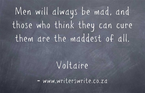 men will always be mad, and those who think they can cure them are the maddest of all - voltaire