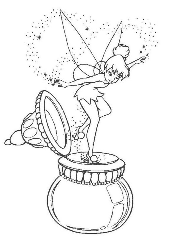 Tinkerbell Coloring Pages Free Printable