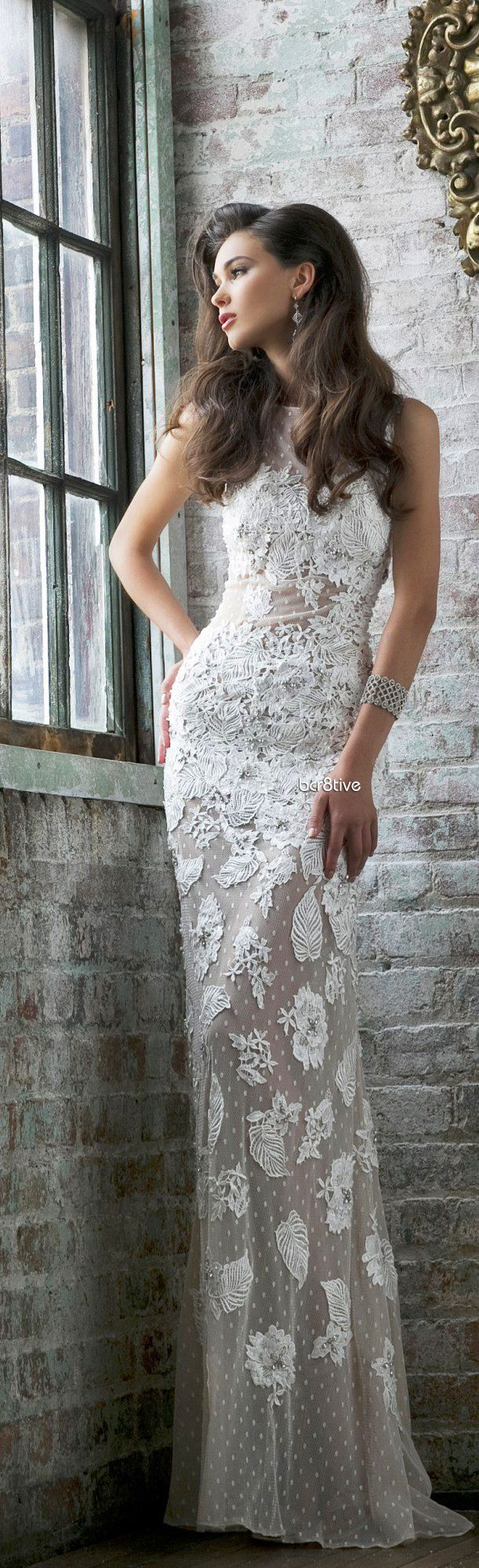 Evening Glamour: Sherri Hill | white lace gown | ~LadyLuxury~ +