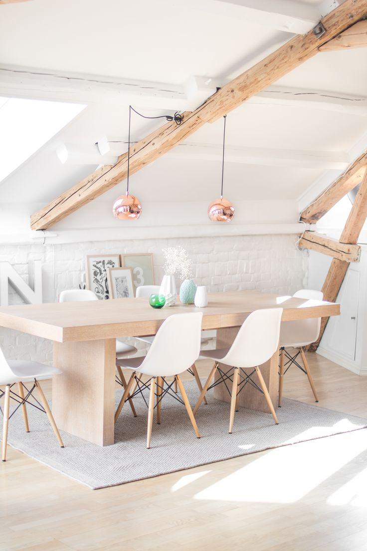 Interior – dining area Copper pendants Eames RAR