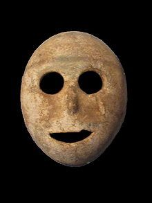 Neolithic stone mask - c. 7000 BC (the original happy face?)