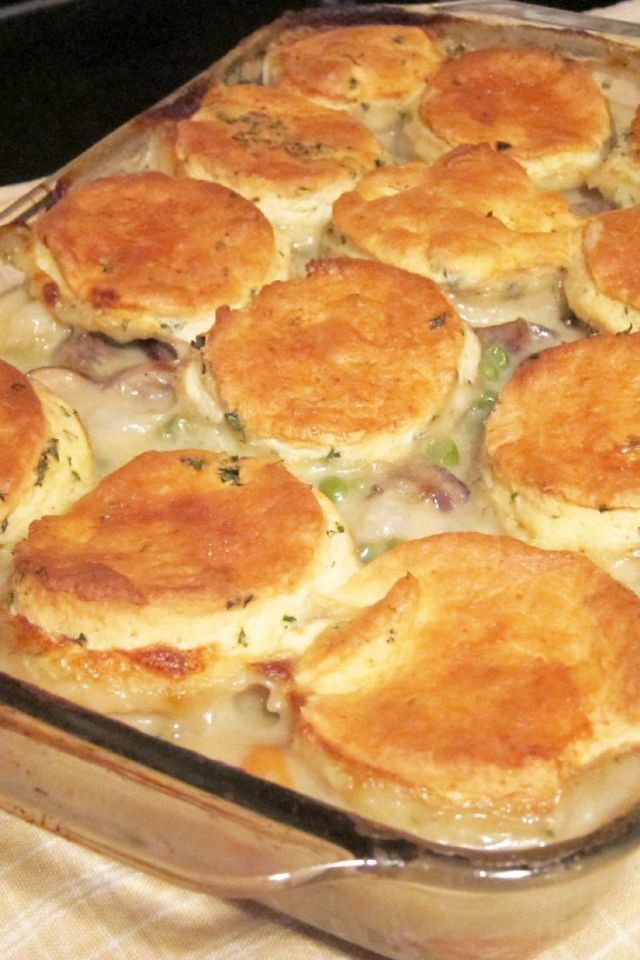 Chicken Stew with Homemade Biscuits Recipe
