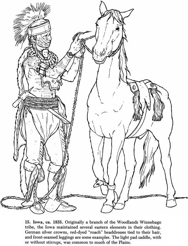 coloring pages native american dover publ horse coloring page of a