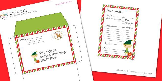 graphic regarding Free Printable Santa Envelopes North Pole known as Free of charge Santa Envelope Template. letter toward santa clause. or