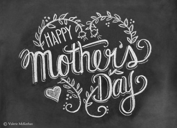 Mother's Day Card  Happy Mother's Day  Chalkboard by LilyandVal