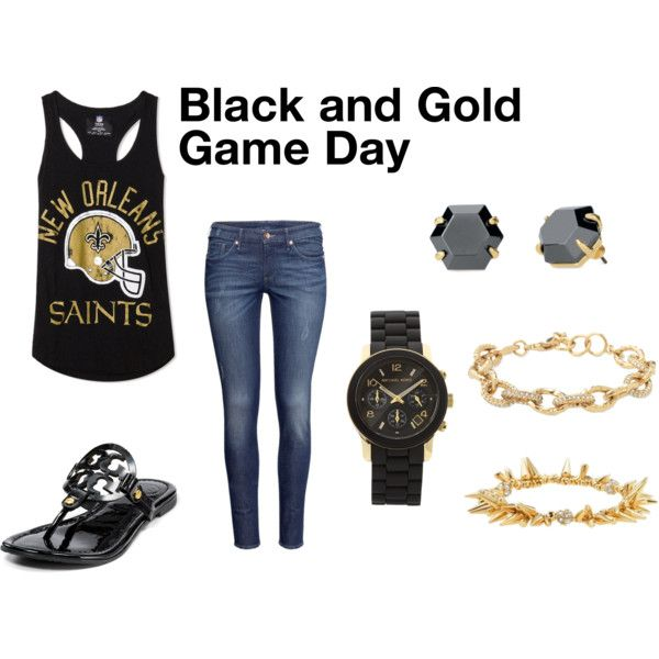 Saints Game Day casual outfit