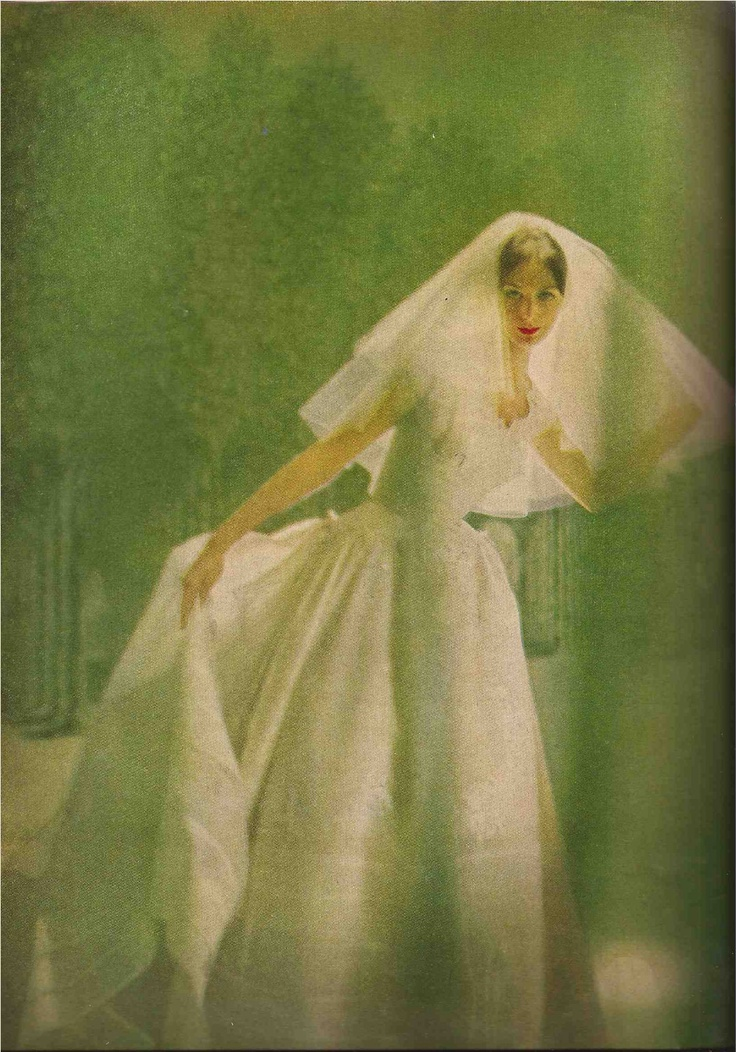 Harper's Bazaar April 1958  Paris bridal collection
