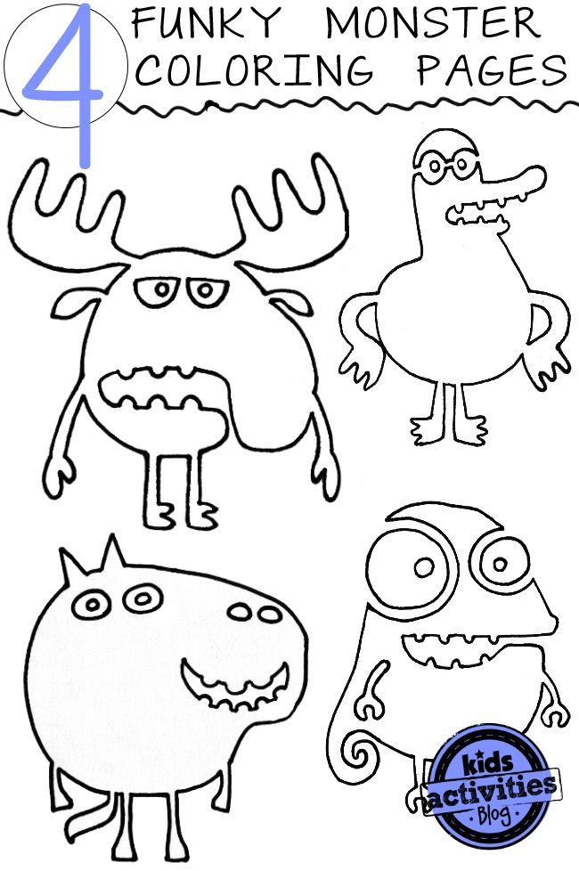crazy stuff colouring pages page 2