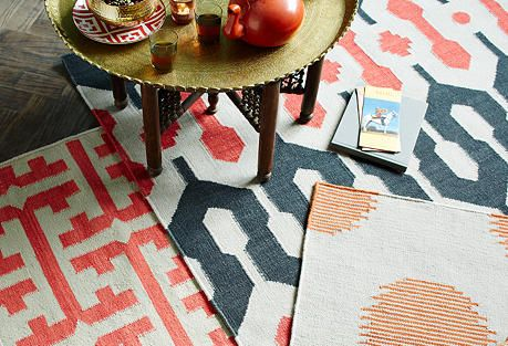 Bold patterns for the floor, yes please!