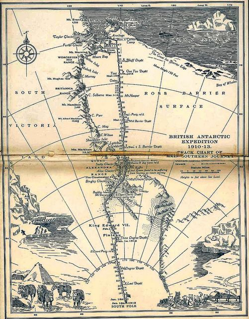 Scott's last expedition map, 1923 / john murray