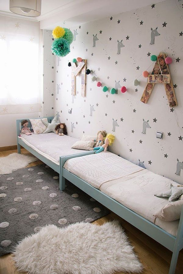A Shared Children's #Bedroom That's Also an #Ikea Hack.