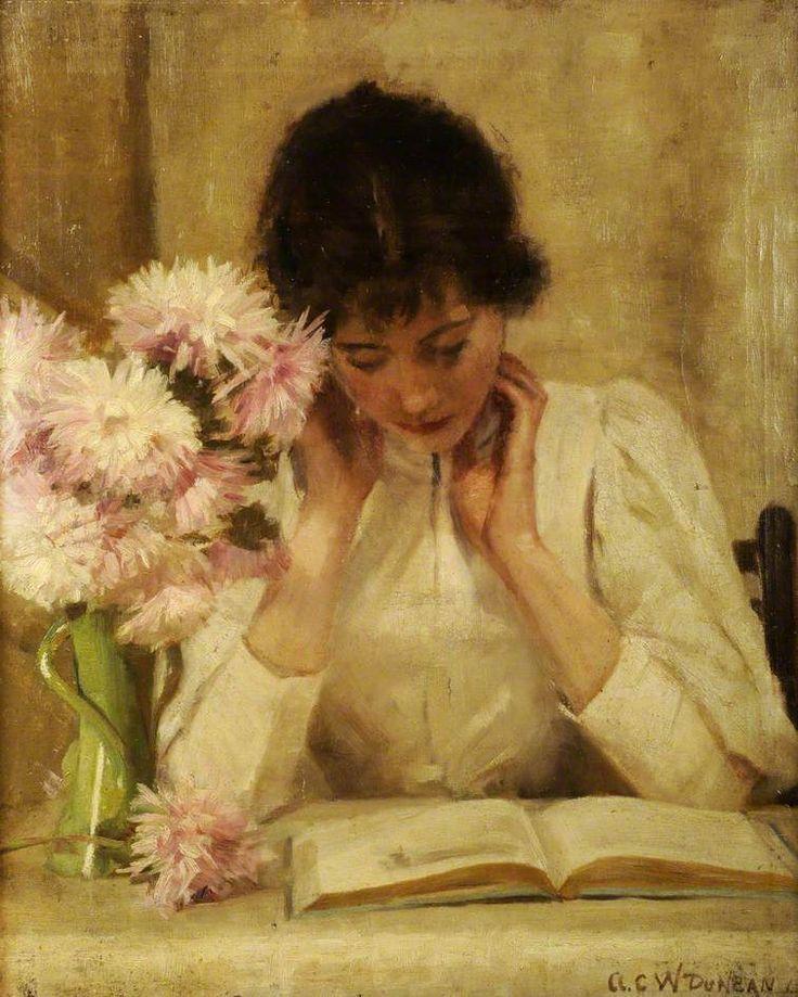 Women Reading - books0977: The Reading Girl (1896). A. C. W. Duncan
