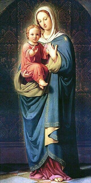 Virgen Maria y Jesús♡