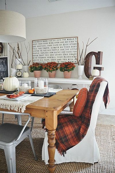 Gorgeous fall vintage inspired dining room... lovely!