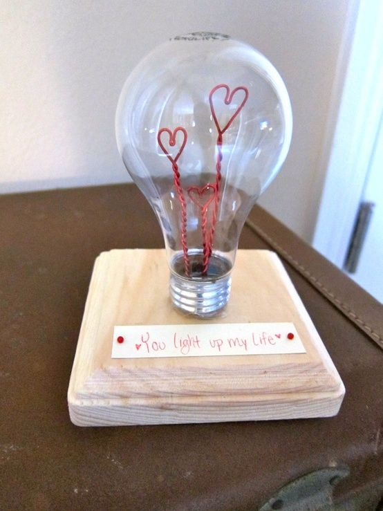 Valentines Light Bulb-- this is so clever and cute!