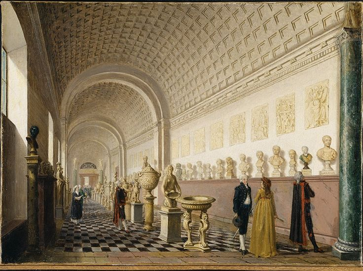Pehr Hilleström (1732‒1816), The Inner Gallery of the Royal Museum at the Royal Palace, Stockholm, 1796. Oil on canvas 44,5 x 60,5 cm. Nationalmuseum, Tukholma. Photo © Nationalmuseum, Tukholma/Stockholm
