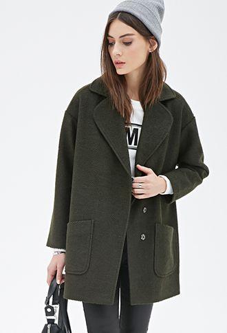 Textured Woven Overcoat   FOREVER21 - 2000100105