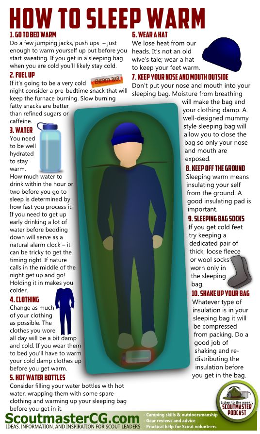How to Sleep Warm when camping