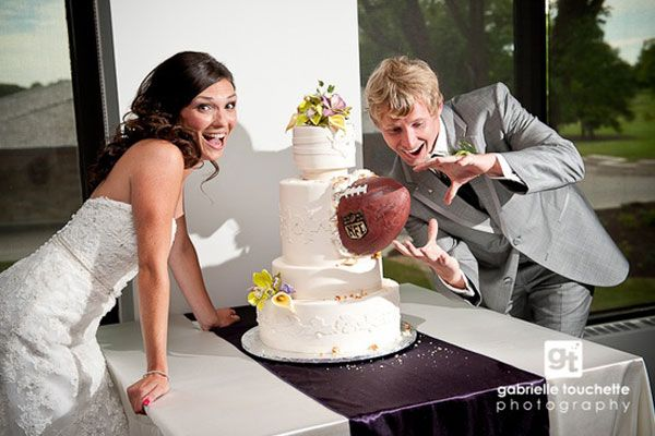 football themed wedding cake, weddings, wedding cake