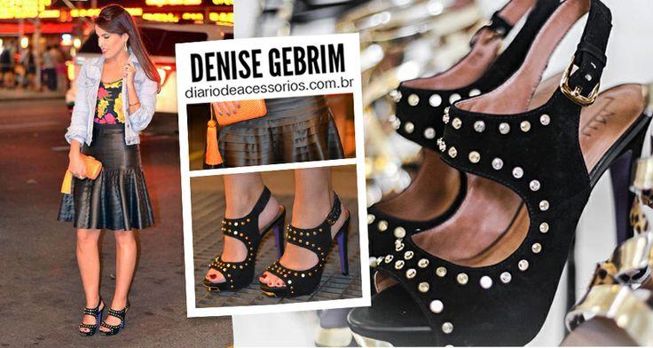 Alta, estilosa e confortável - desejos da blogueiras! Look em destaque: Denise Gebrim com a sandália mais desejada da temporada! O que acharam meninas? Bom dia!