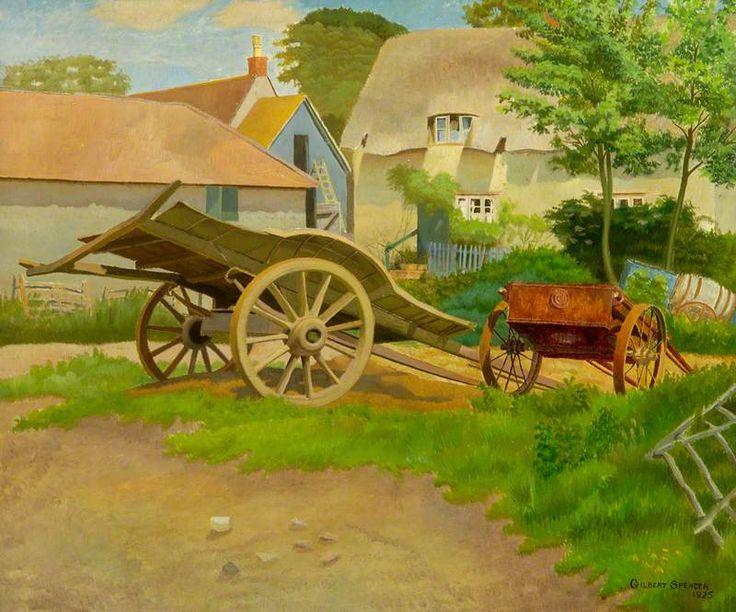 BBC - Your Paintings - The Farmyard, Garsington, Oxfordshire