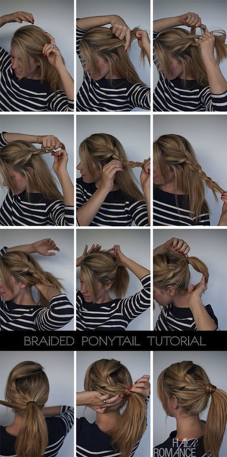 Cute Hair Styles for Girls: French Braid to Pony Tail  #HairStyle #Hair #Braid #Kids #Girls