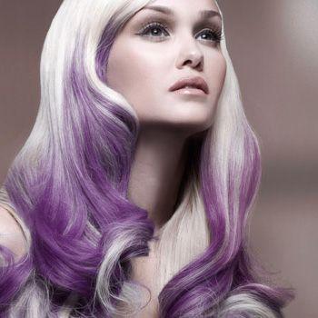 white and purple hair beautiful hair pinterest