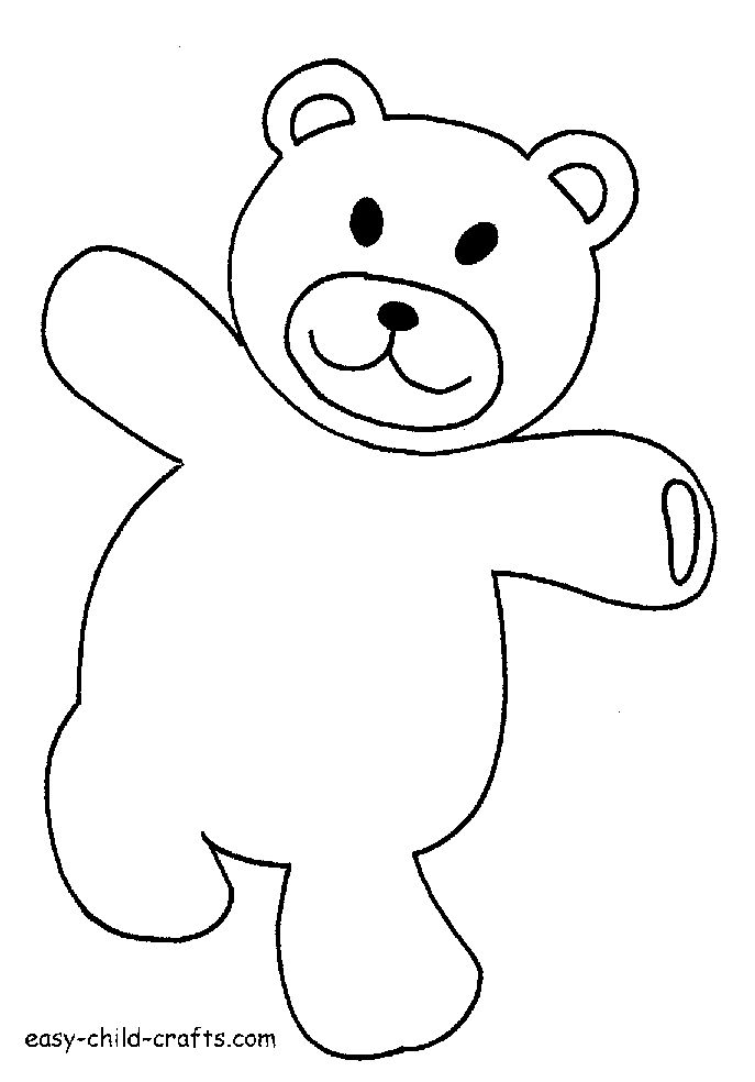 Printable Teddy Bear Coloring Pages For Kids | 984x687