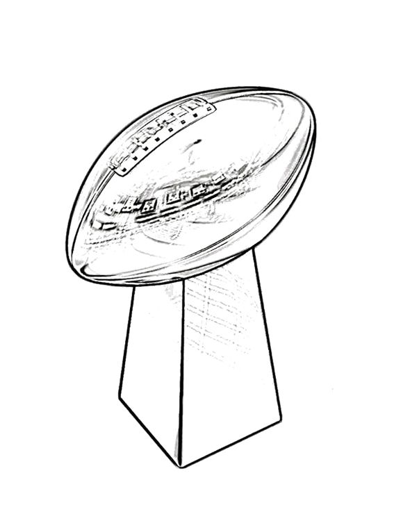trophy super bowl coloring page for kids kids coloring pages pint - Super Bowl Trophy Coloring Pages