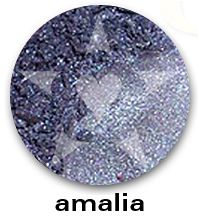 "AMALIA is a rich deep periwinkle frost with vibrant blue sparks.    CHIARA is an Aromaleigh v2 stock collection, inspired by the range of best-selling, frost eyeshadows of Aromaleigh v1, the ""Gothic Lolita"" Eyeshadow collection.    http://www.aromaleigh.com/newcshjetomi.html"
