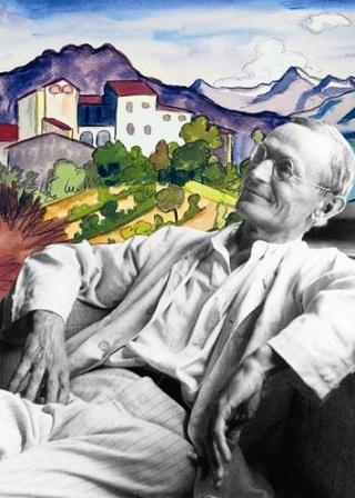 Hermann Hesse and his watercolor painting