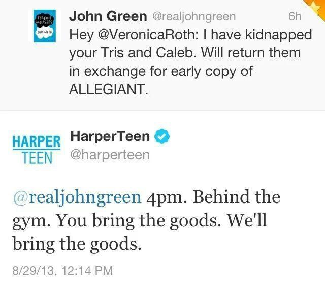 john green veronica roth trolling