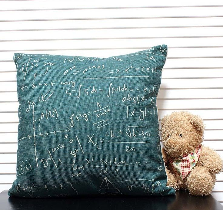Throw Cushion Cover Soft canvas feel Linen & Cotton Pillows Cushion Cover Geometry of modern abstract mathematics 45cm*45cm  $408,40
