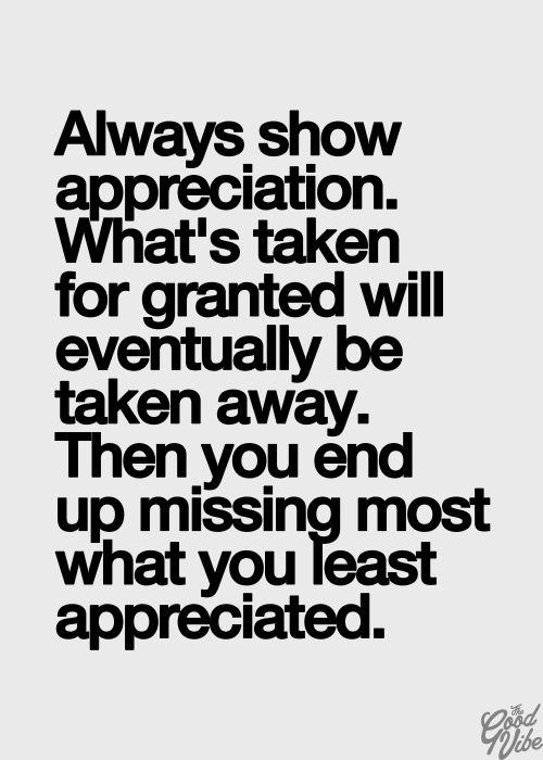 Always show appreciation!