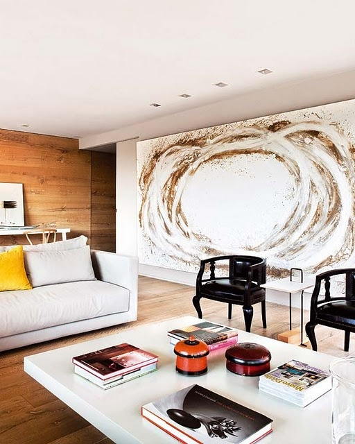 Large art pieces as a focal point