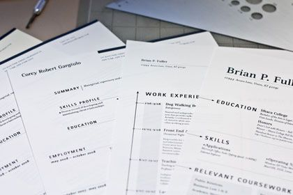 24 great examples of non conventional resumes blog of francesco