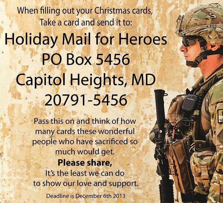 Mail Christmas Cards To Soldiers Community Service