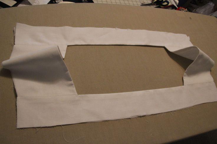 Finished yoke for square-yoke surplice pattern from Ecclsiasticalsewing.wordpress.com