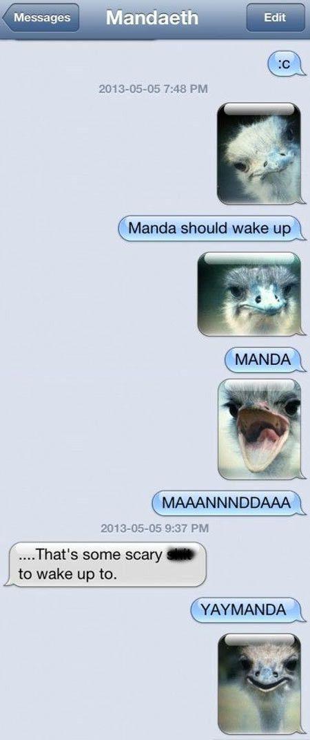 Manda, wake up!