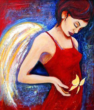 "Saatchi Online Artist Claudia Johns; Painting, ""Hope"" #art"