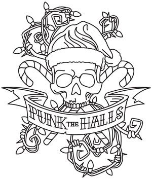punk rock coloring sheets christmas coloring pages