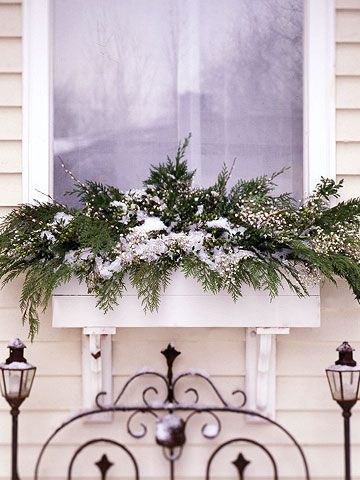 WINTER WINDOW BOXES - So simple.