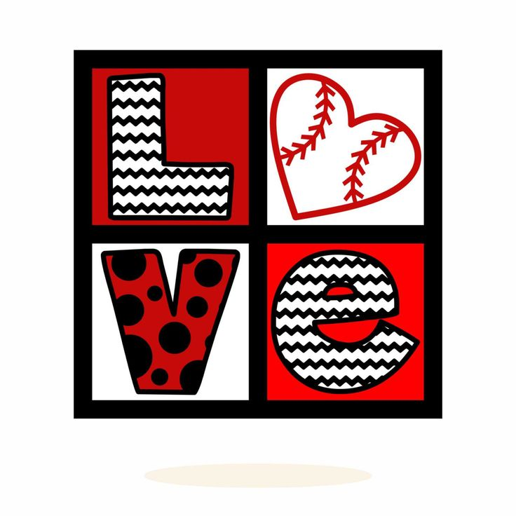 Download Baseball, Love, Polka Dots, Chevron, svg, dxf, Vector Art ...