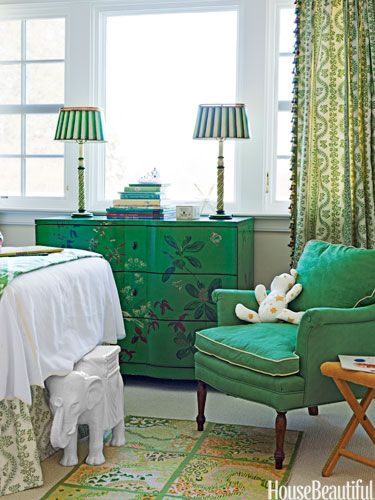 I like the emerald green look best when it is whimsical.