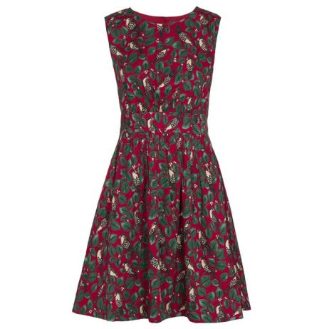 Red Winter Birds Print Dress £36 (was £60) from Emily and Fin
